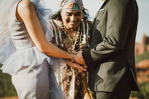 Shaman's Blessing - native wedding ceremony